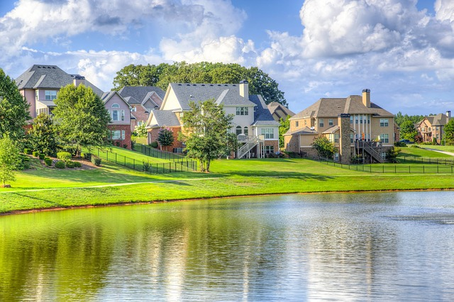 View of Lake and Lakefront Homes in Maryland